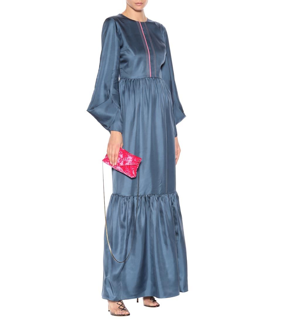 Roksanda Maxikleid Elvira aus Seidensatin Finish Günstiger Preis Billig Verkauf Manchester Großer Verkauf Große Diskont Online dK7uP