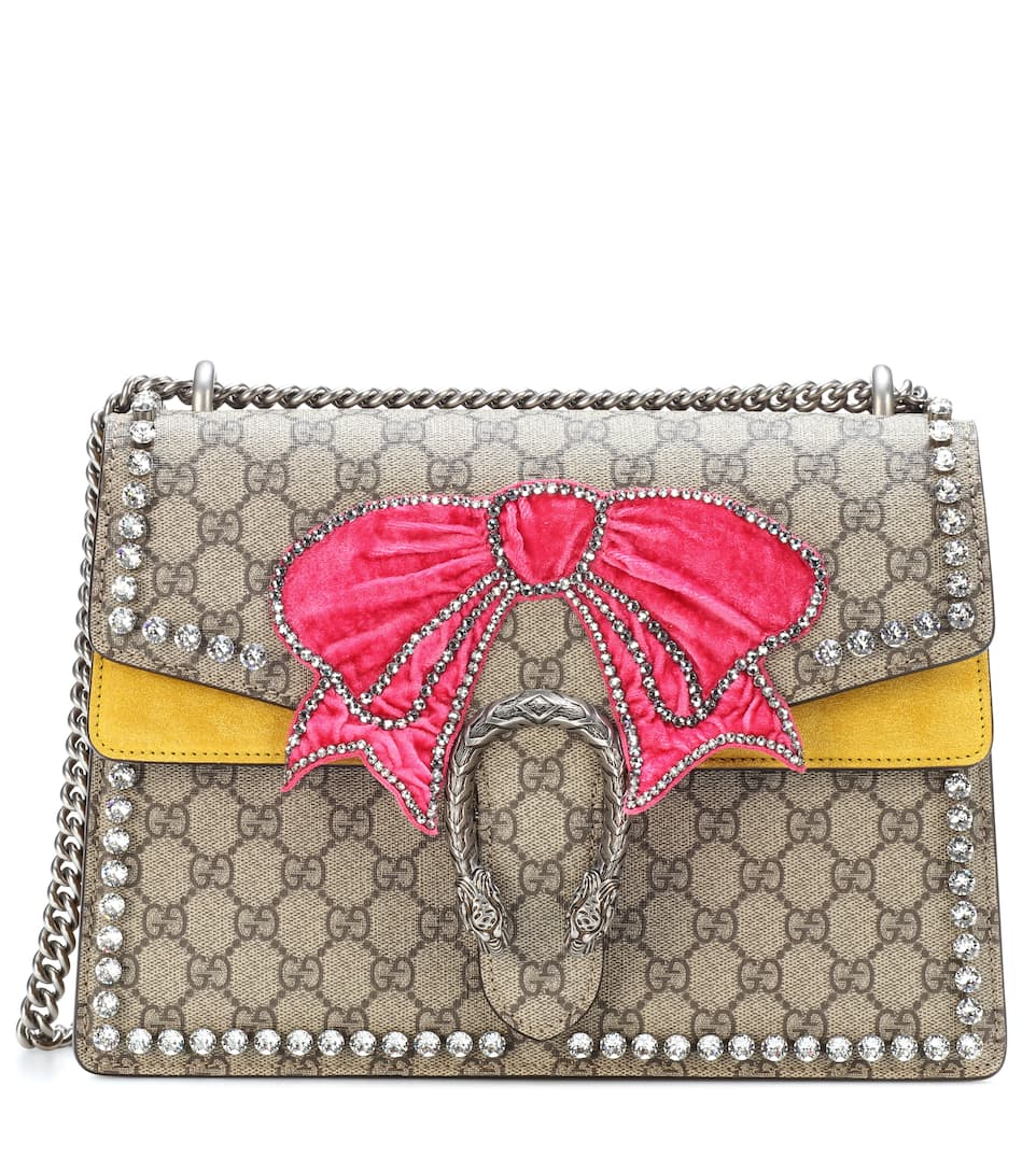 8a2f38b7af8 Gucci - Dionysus GG Supreme Medium embellished shoulder bag ...