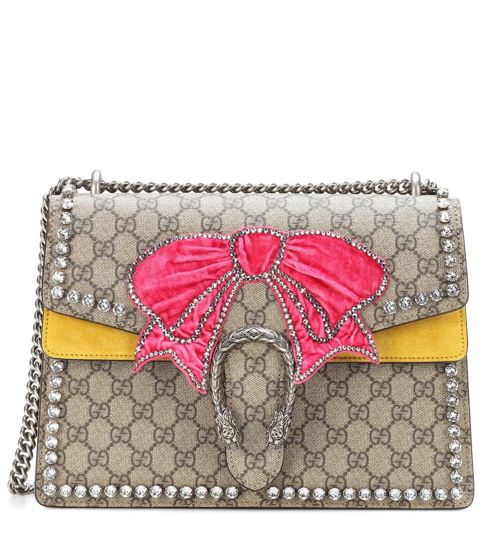 88cff7c63 Gucci - Dionysus GG Supreme Medium embellished shoulder bag | mytheresa.com