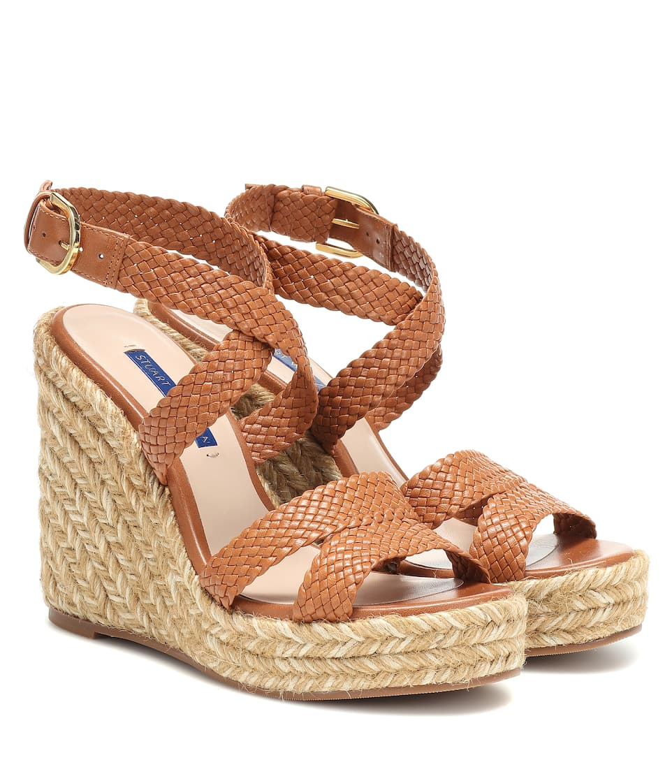 32a953ed4a5 Elsie leather wedge espadrilles