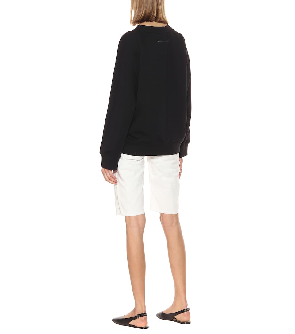 Printed Cotton-Blend Sweatshirt - MM6 Maison Margiela