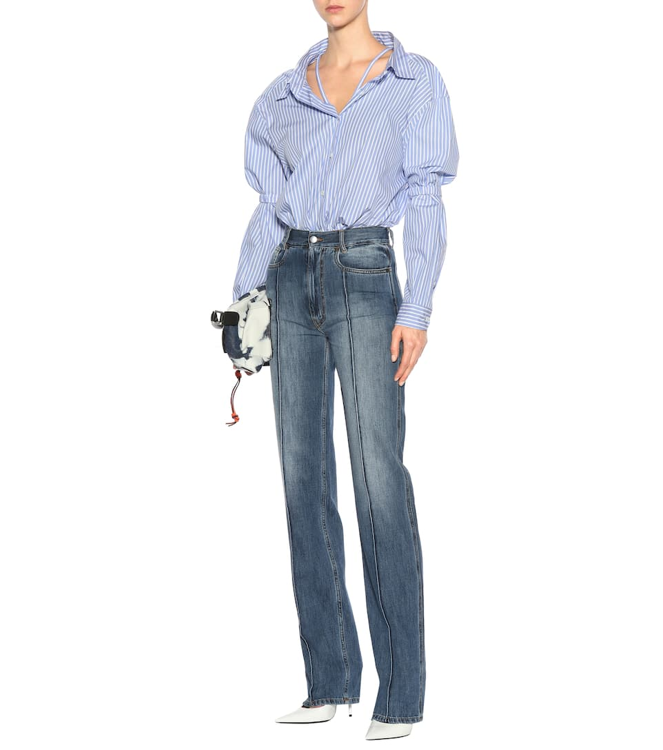 Maison Margiela High-Rise Jeans aus Baumwolle