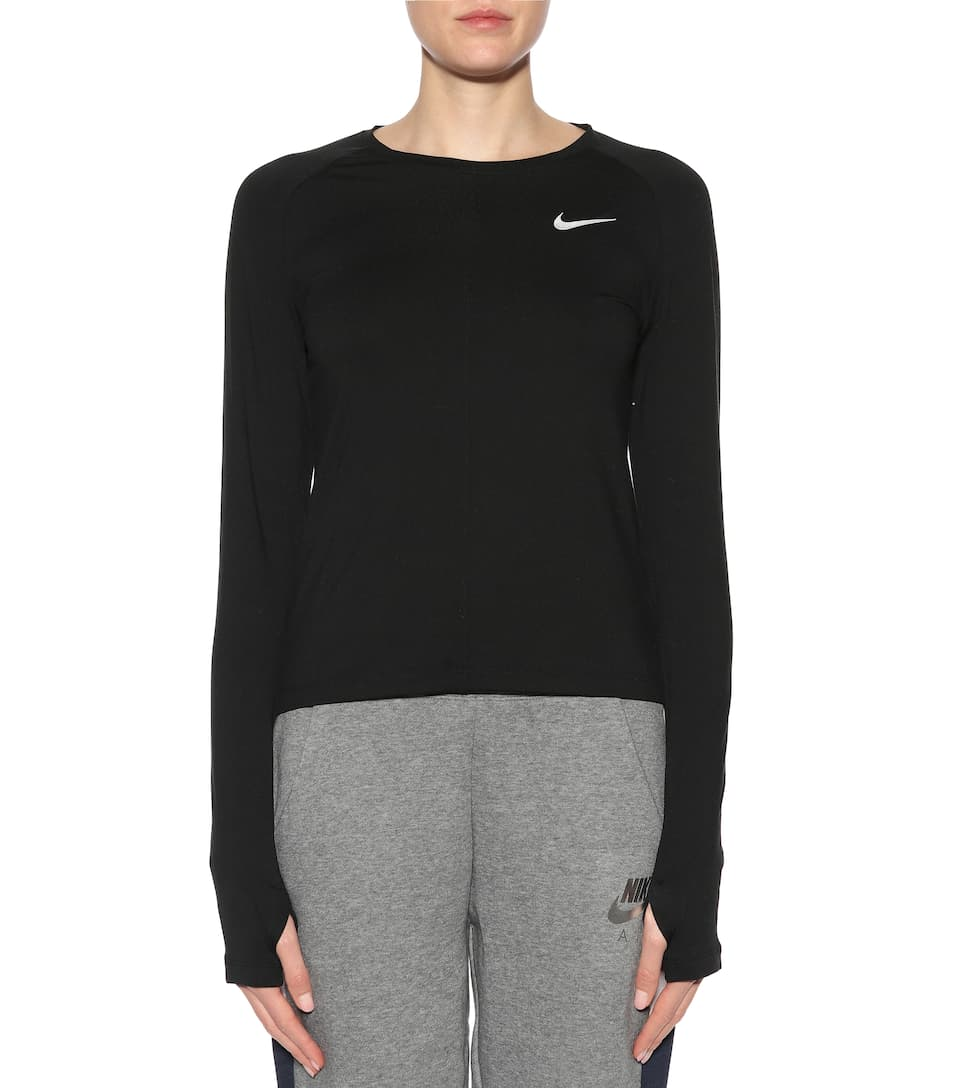 de negro de jersey Element running Top Nike YPHqBdYw