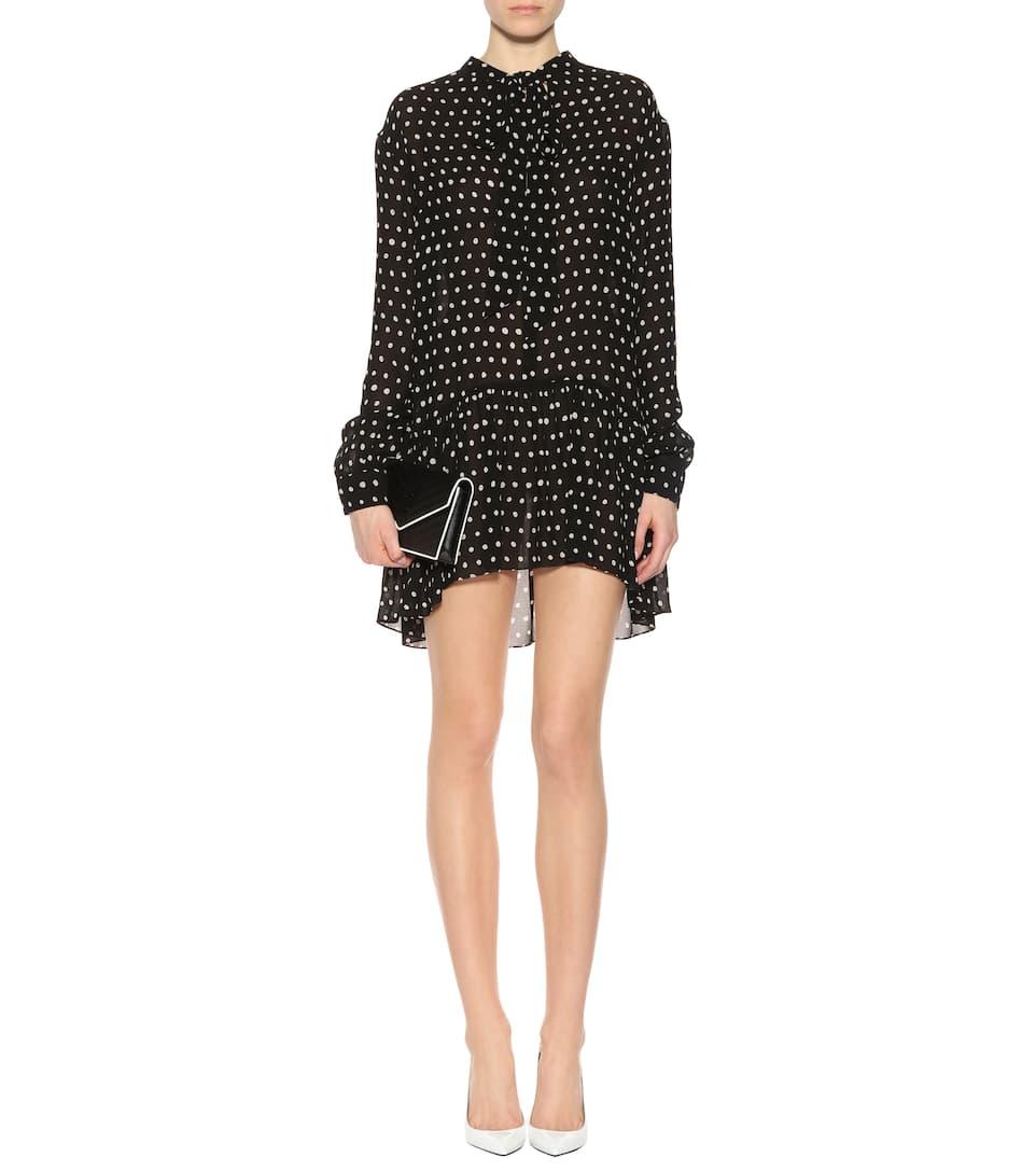 Saint Laurent Kleid mit Polka-Dots Billig Beliebt Spielraum Niedriger Preis Rabatt Bester Verkauf GqiHoHT4t
