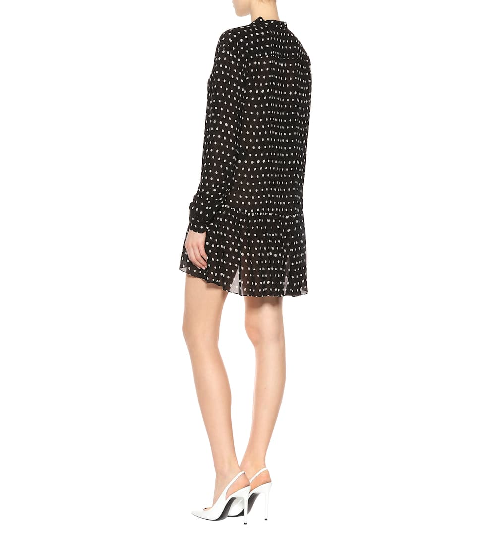 Saint Laurent Kleid mit Polka-Dots