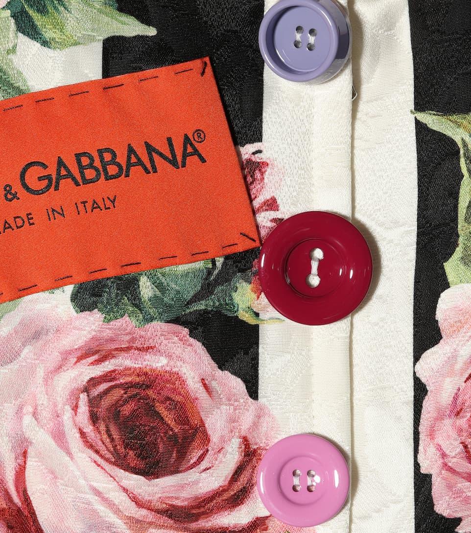 Dolce & Gabbana Bedrucktes Etuikleid aus Jacquard