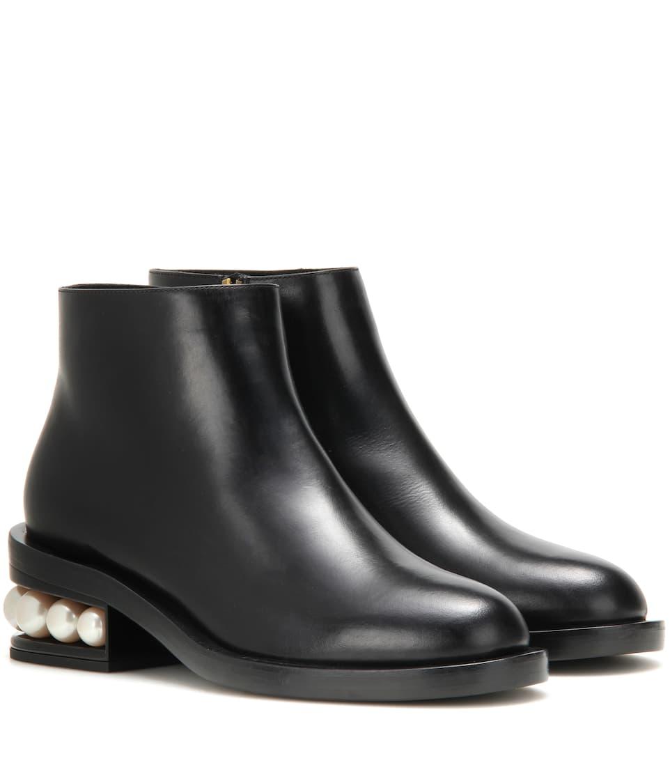 Nicholas Kirkwood Ankle Boots Casati Pearl aus Leder Kosten Für Verkauf lnOxmd7
