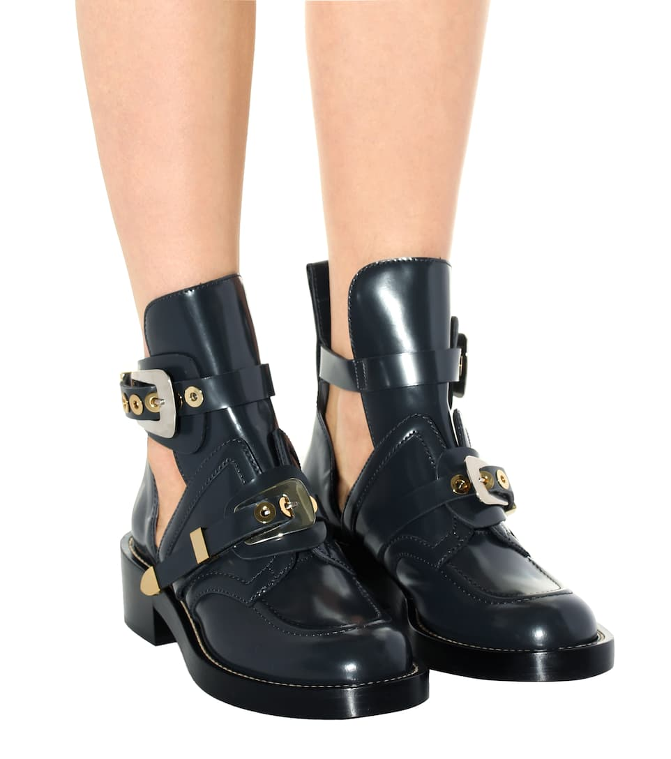 sale online outlet cheap price Balenciaga Exclusive to mytheresa.com – Ceinture leather cut-out boots low shipping fee online clearance online amazon recommend cheap online Y23gT