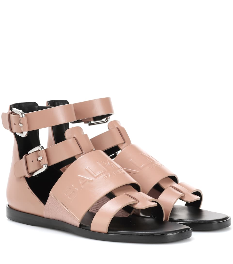 Leather Sandals by Balmain
