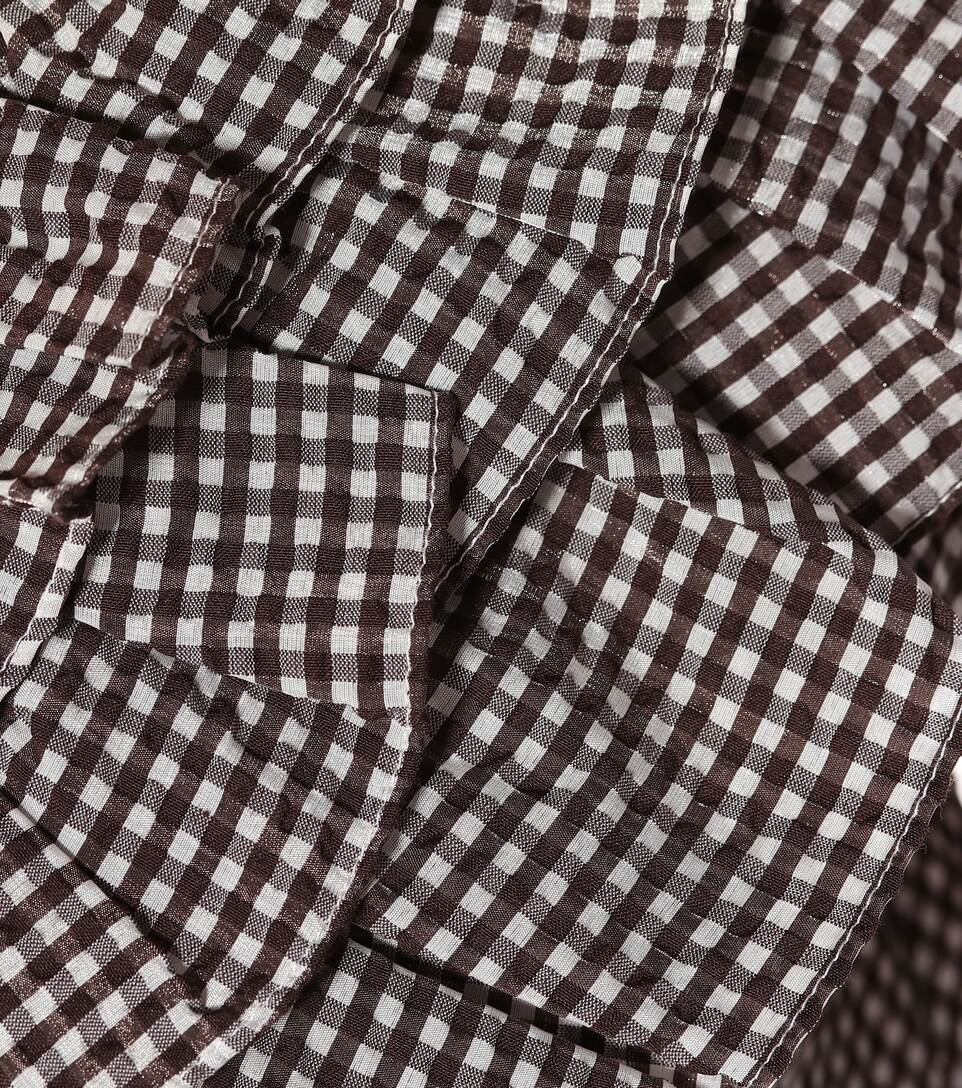 GANNI Clothing CHARRON GINGHAM COTTON-BLEND BLOUSE