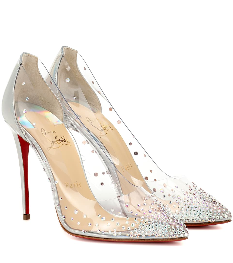 new style 0f21a 52383 Degrastrass 100 Embellished Pvc Pumps - Christian Louboutin ...