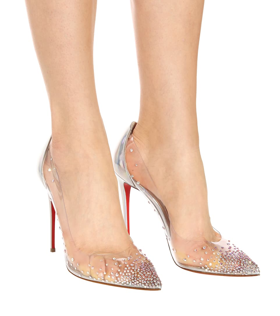 new product a4037 4aea2 Degrastrass 100 Embellished Pvc Pumps | Christian Louboutin ...