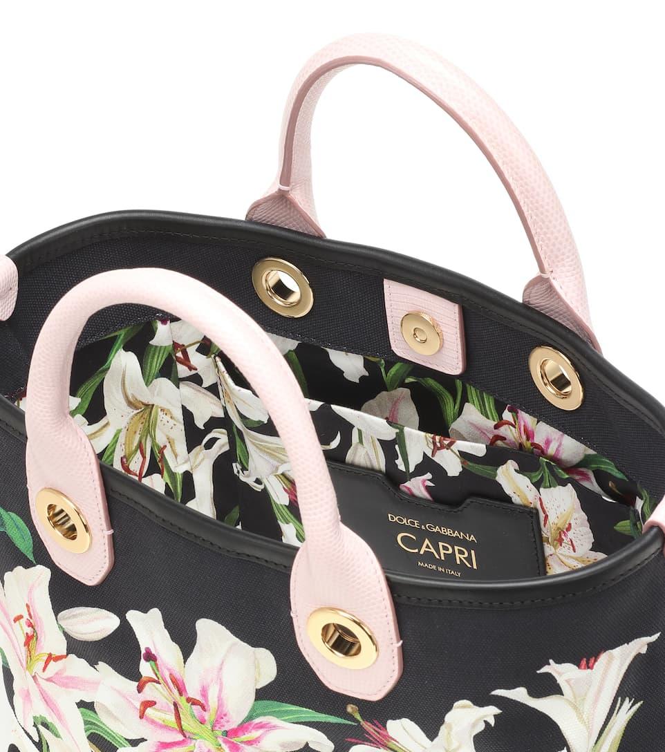 CuirDolceamp; Cabas Gabbana N° Imprimé Artnbsp;p00394193 Capri En Coton Et PlXZiuwTOk