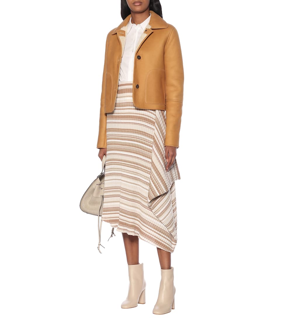 JW Anderson - Striped wool skirt