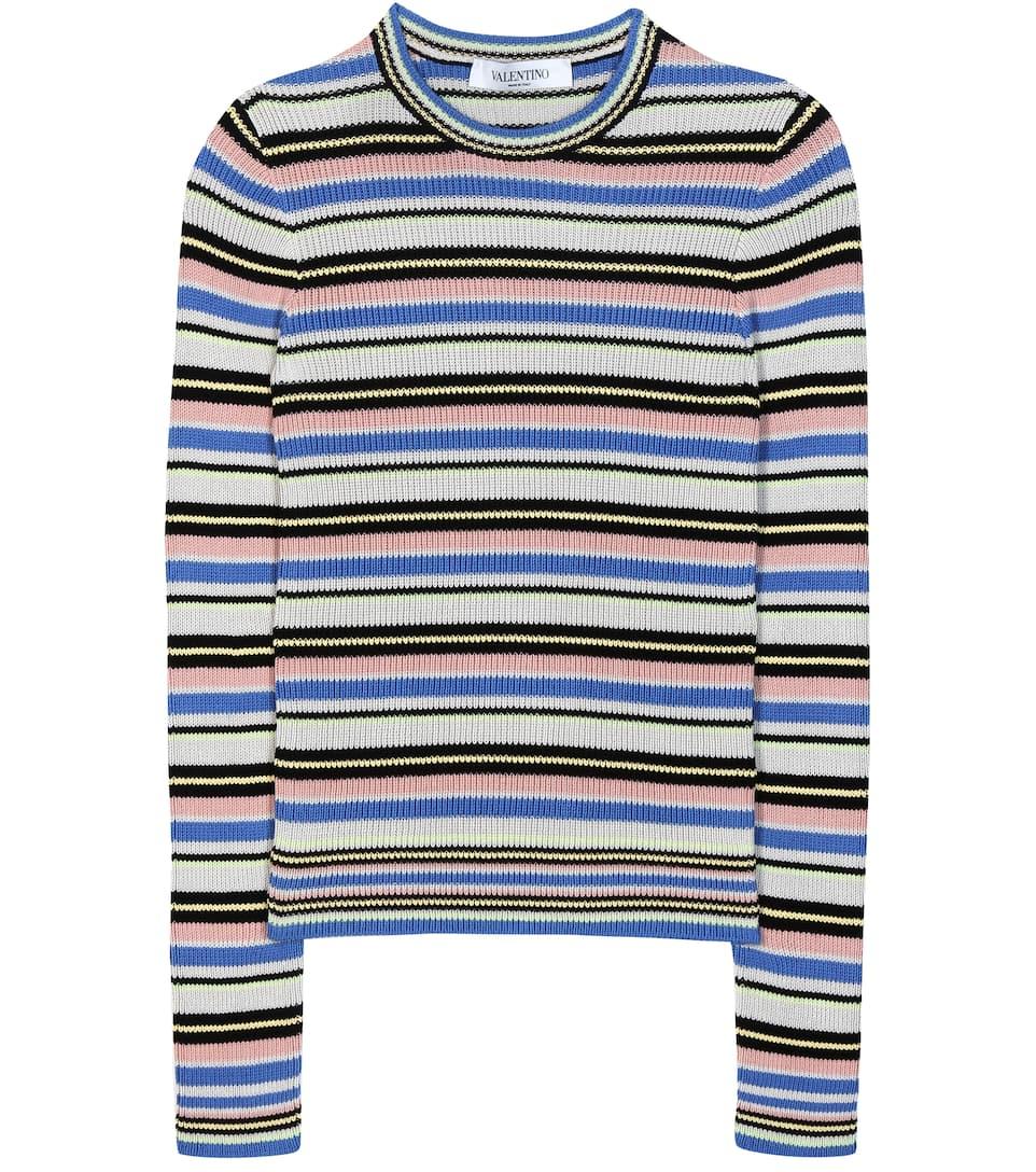 Valentino Striped cotton sweater