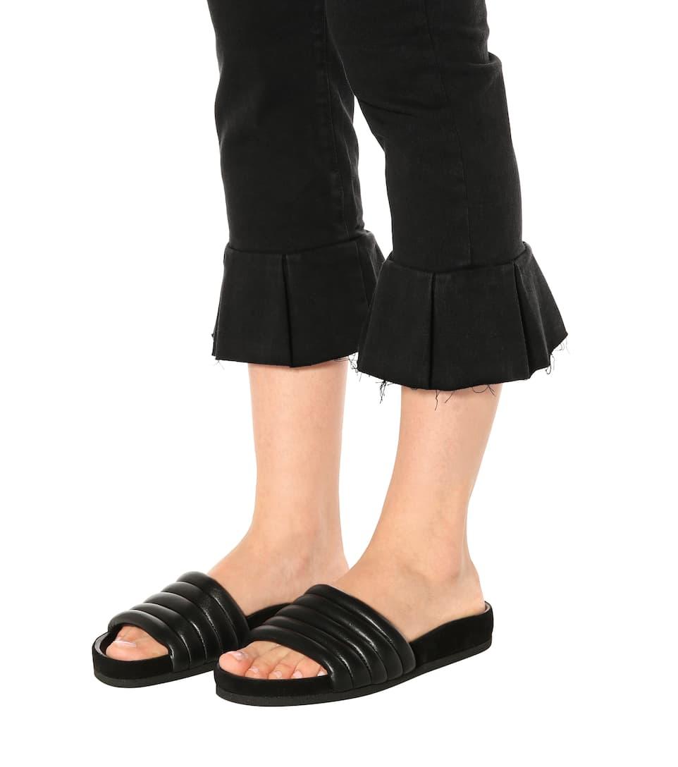 Isabel Marant Pantoletten Hellea aus Leder