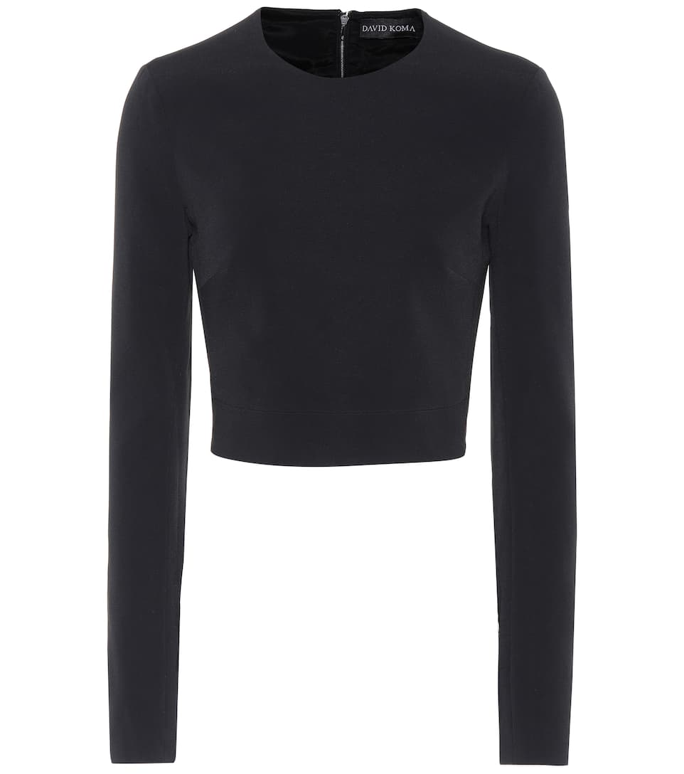 David Koma Crop-top Aus Cady