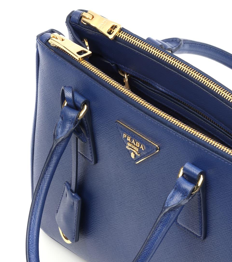 4f4e537ae9355f Galleria Saffiano Small Leather Shoulder Bag - Prada | mytheresa.com