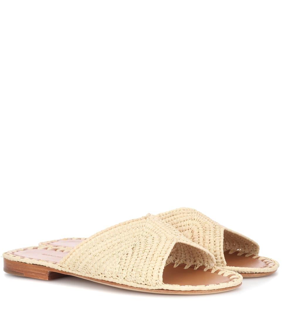 f1f782df2688 Salon Raffia Sandals - Carrie Forbes