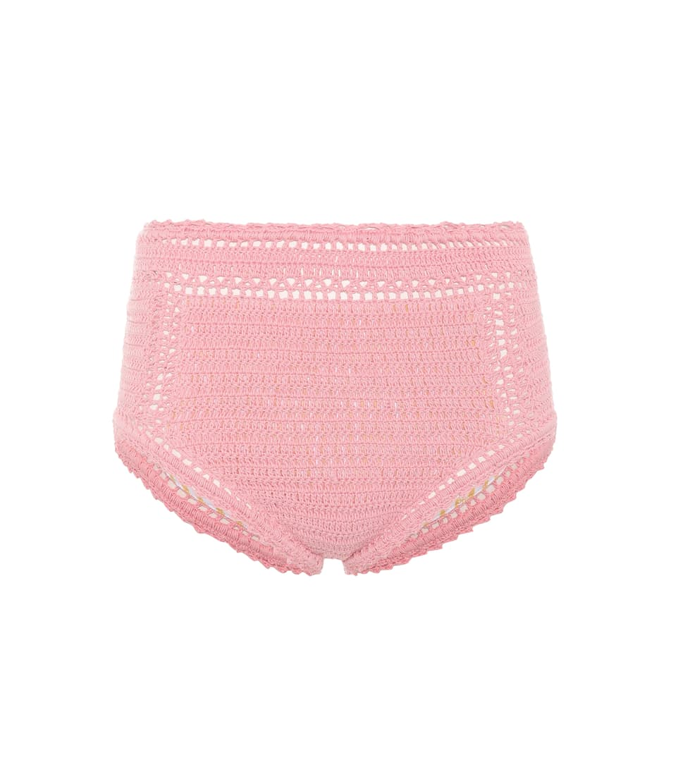 She Made Me Crocheted Bikini Panties High Waisted, Cotton
