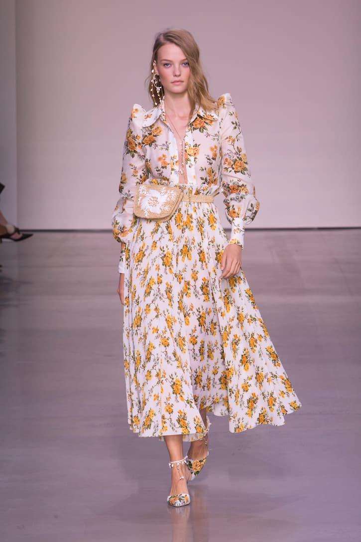 Blusa Tangerine y seda Floral Vine dorada Zimmermann lino de vZTnwdBqB