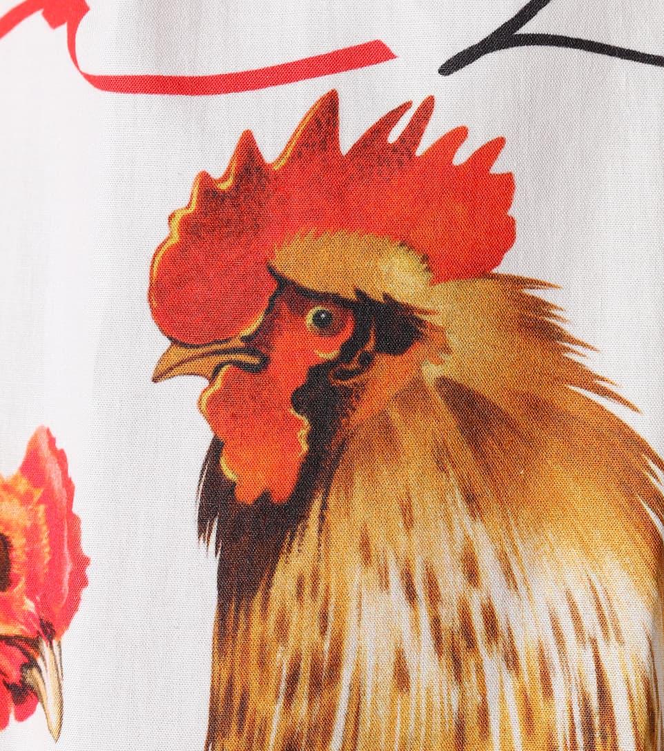 Dolce Falda Panna algodón Gabbana estampado de amp; Galline amp; Tqwt1Tr