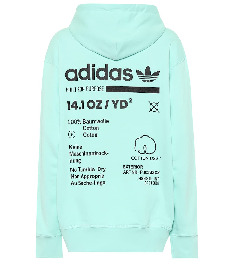 Printed Cotton Hoodie by Adidas Originals