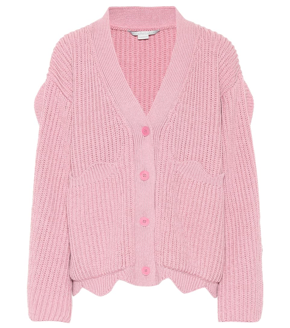 5462cf3d5d3c Stella McCartney - Scalloped cotton-blend cardigan
