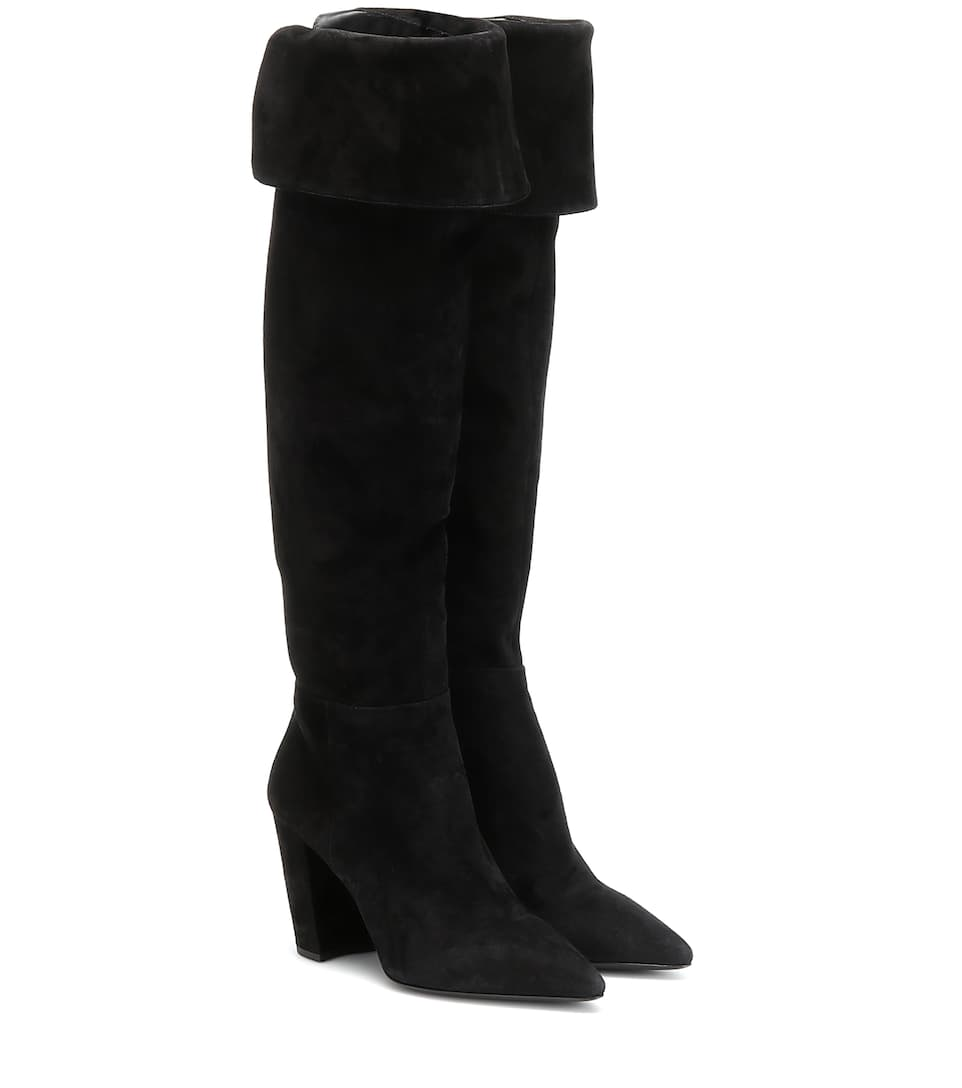 100% authentic crazy price latest design Suede over-the-knee boots