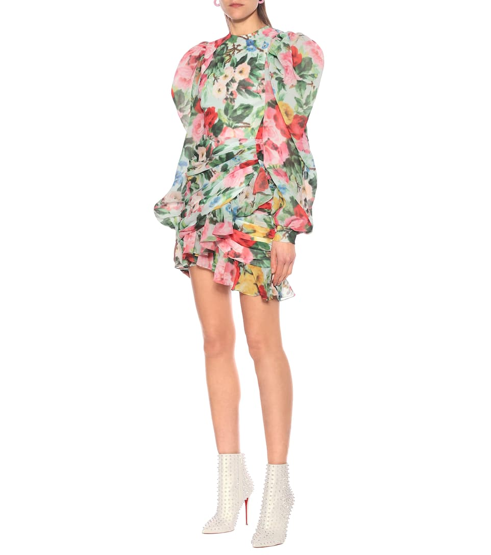 Richard Quinn - Floral chiffon minidress