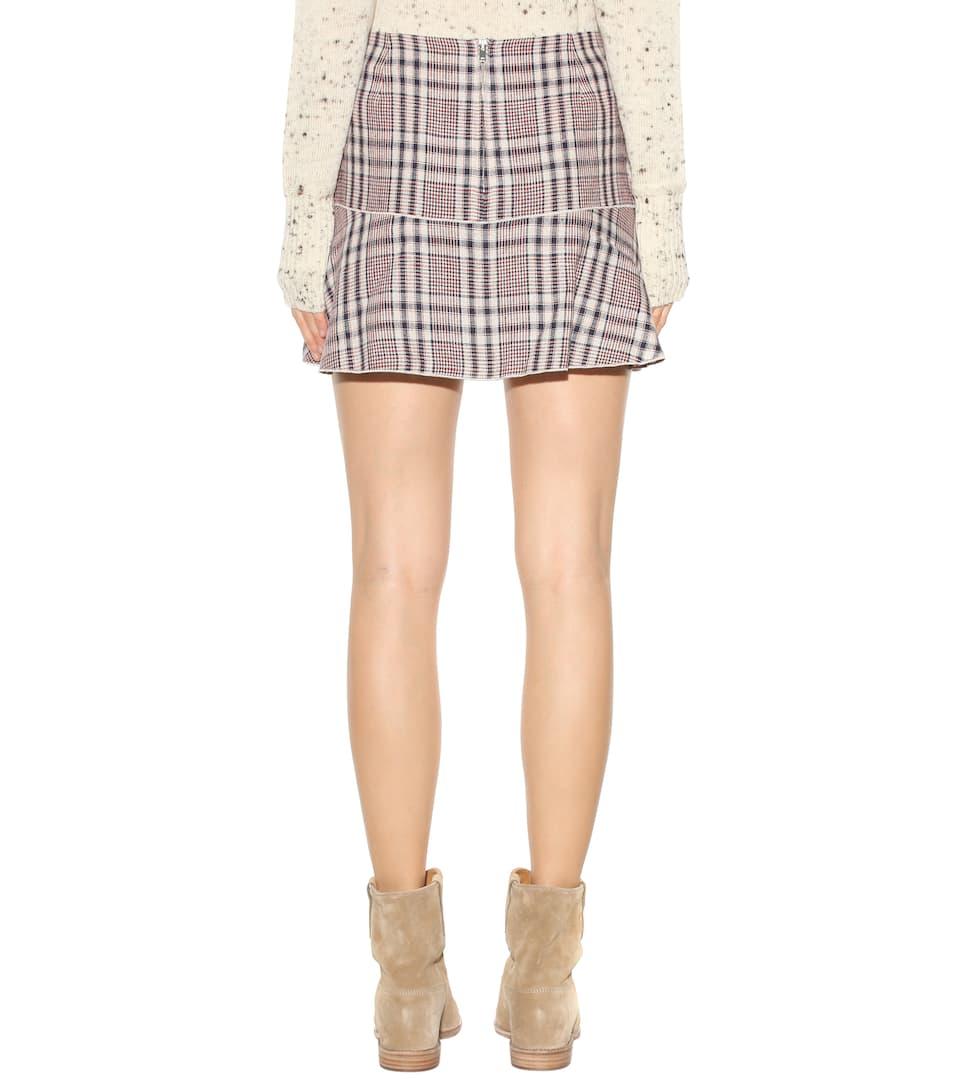 ETOILE ISABEL MARANT Jevil Linen Miniskirt in Ecru