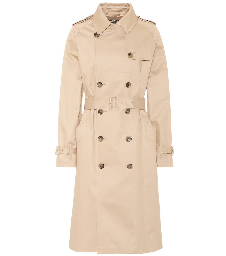 GRETA COTTON GABARDINE TRENCH COAT