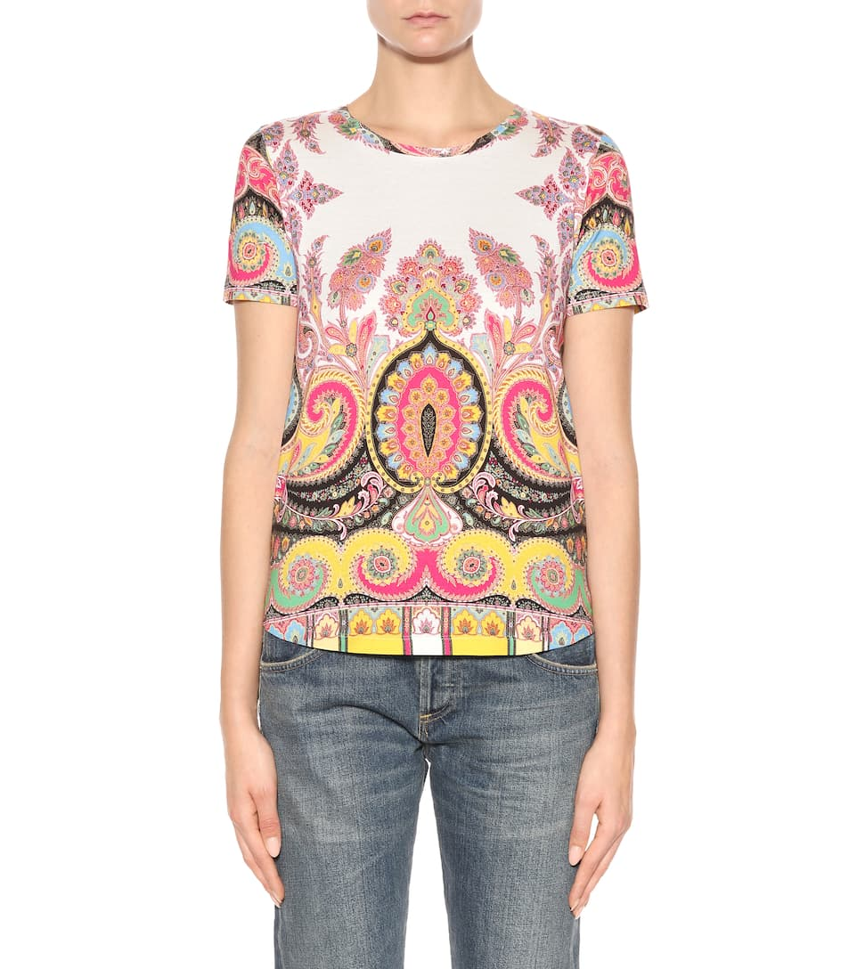 Etro Printed T-shirt Made Of Cotton