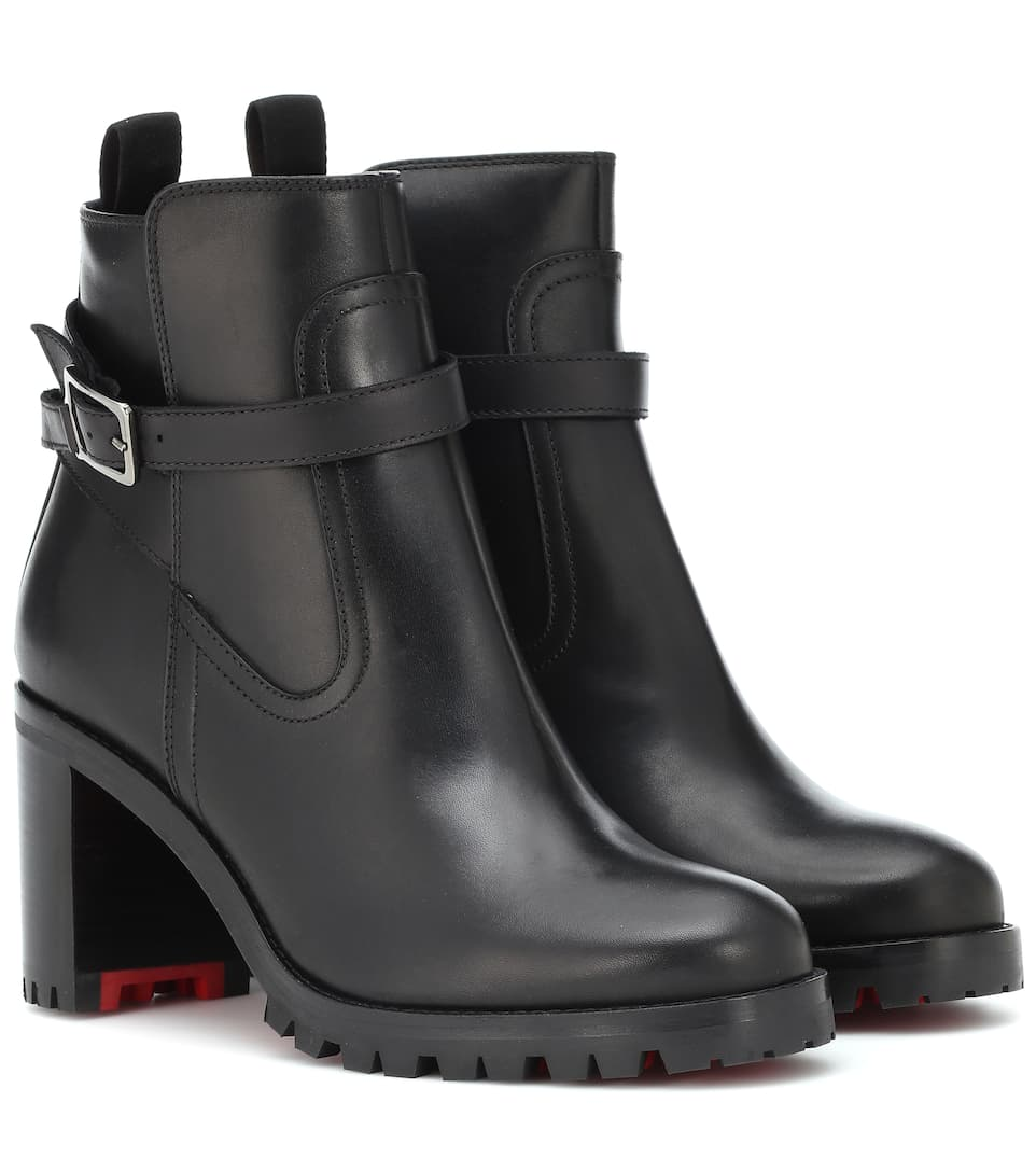 Trapeurdekoi 70 Leather Ankle Boots by Christian Louboutin