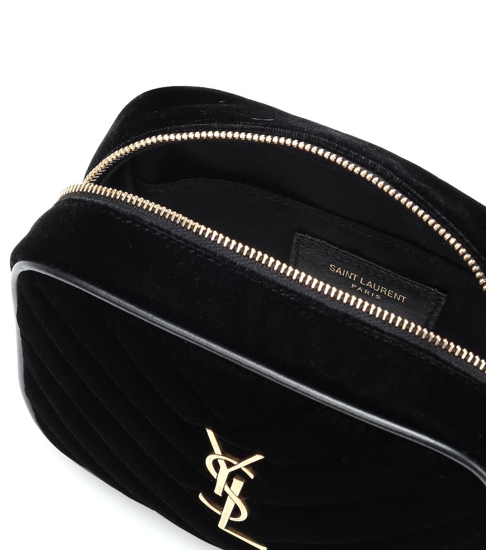 59aa378082f3 Lou Quilted Velvet Belt Bag - Saint Laurent