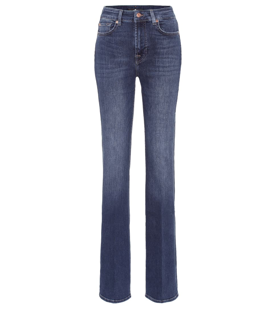 Lisha Haute 7 For Jean All Mankind Flare À Taille On0Pkw