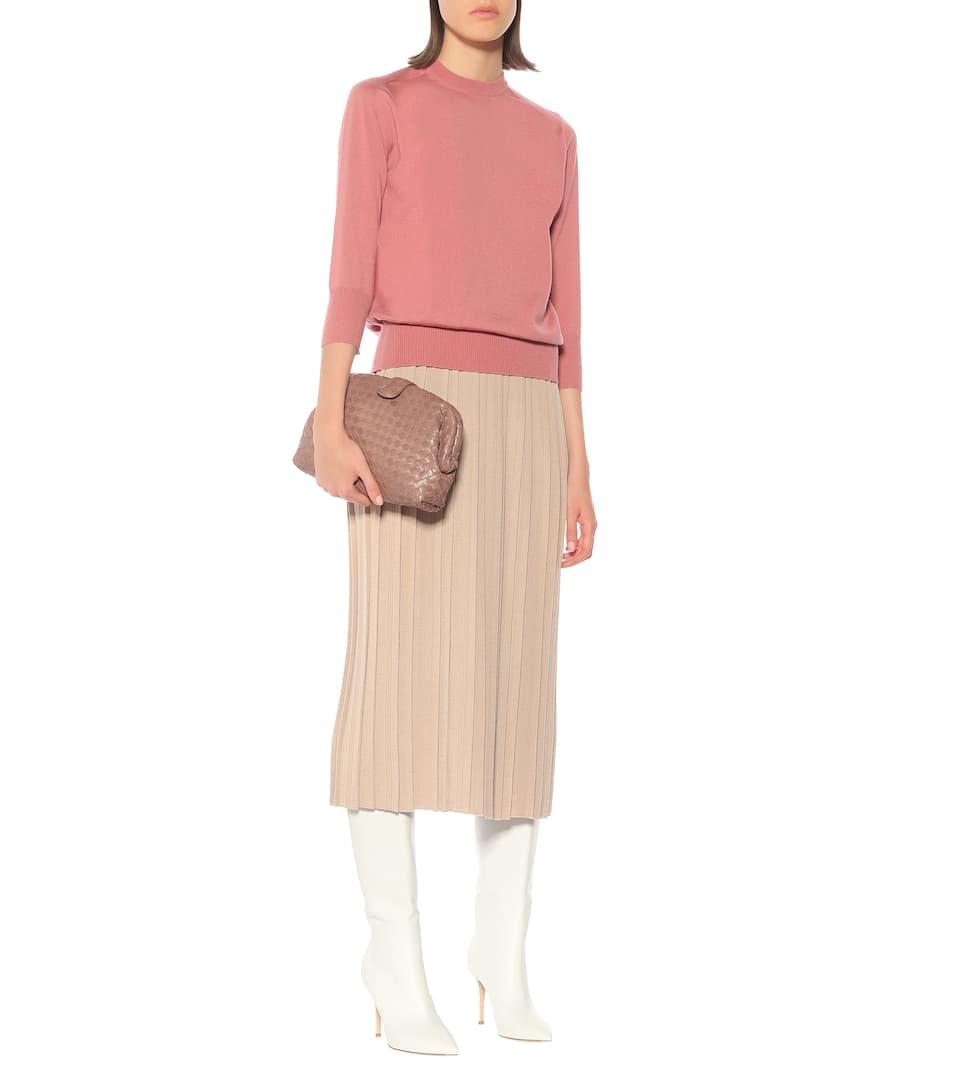 469177da49f3de Loro Piana - Quercy cashmere and silk midi skirt | Mytheresa