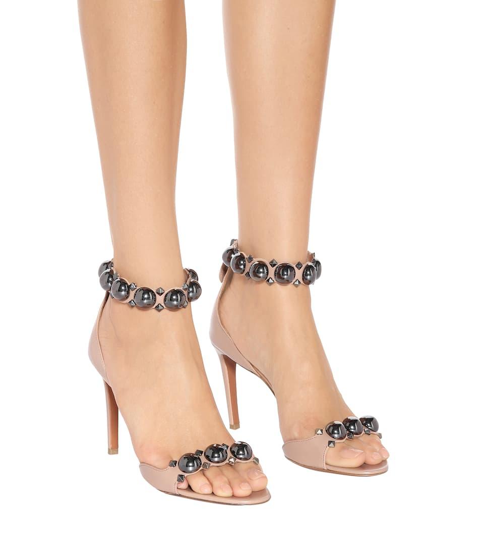 Bombe Leather Sandals - Alaïa | Mytheresa