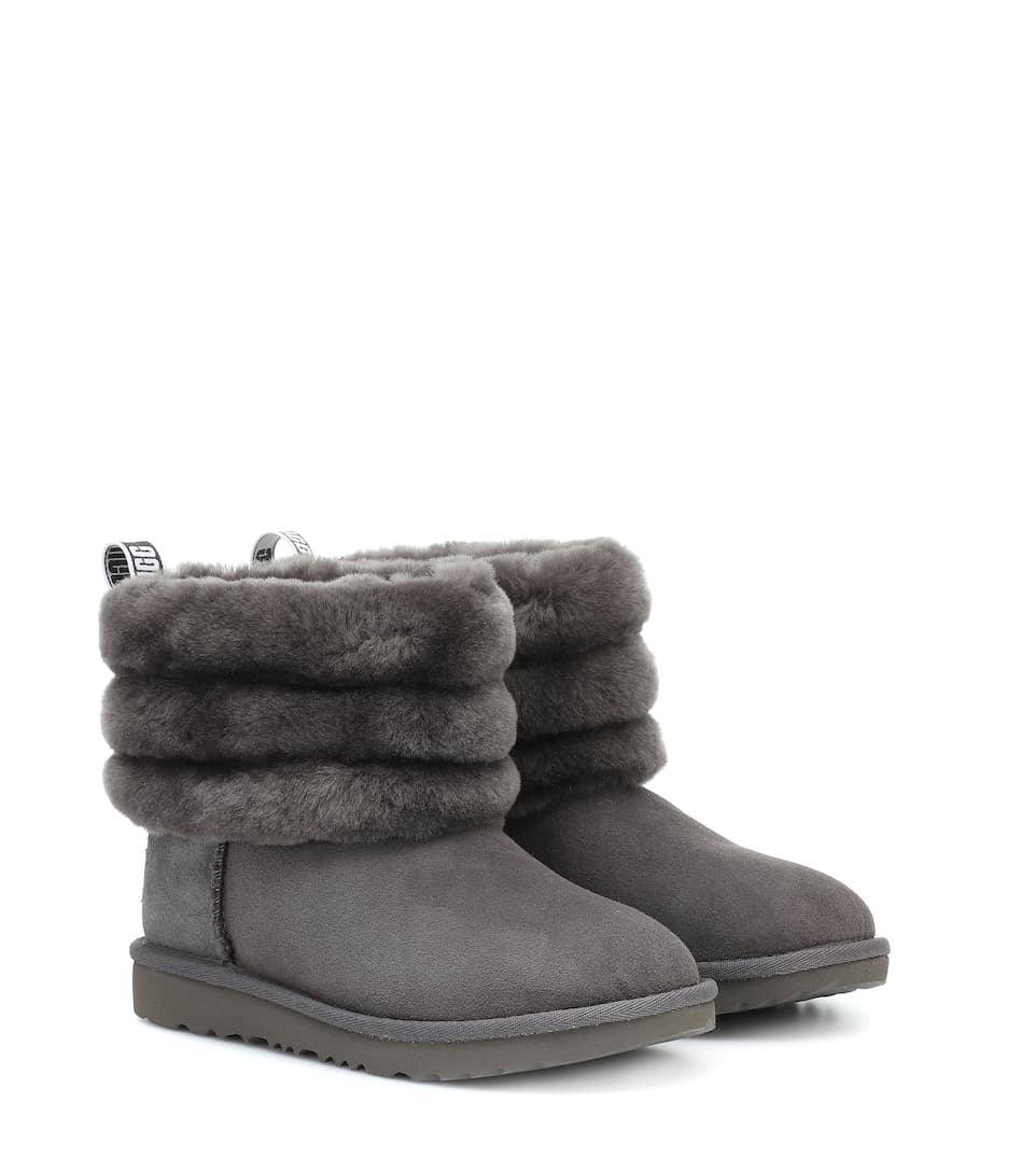 Girls UGG LeatherSuede Boots Size 1 in Good Condition