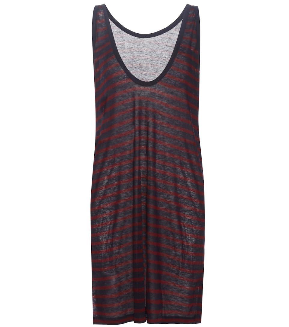 T by Alexander Wang Sleeveless striped dress