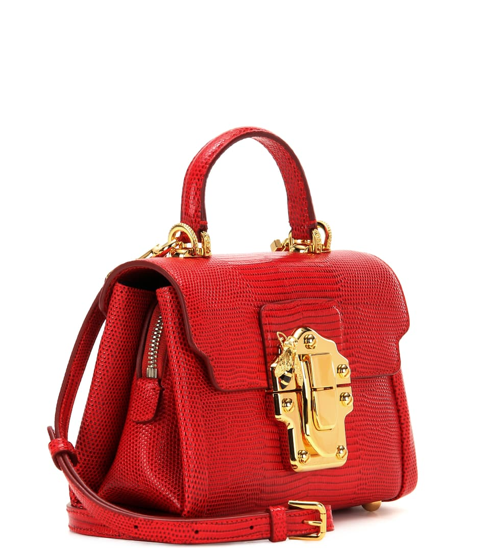 Bandolera Mini amp; amp; Rojo Gabbana de Lucia cuero Dolce X5PEqdwq