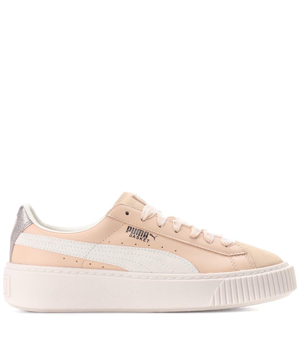 Puma Sneakers mit Plateau aus Leder