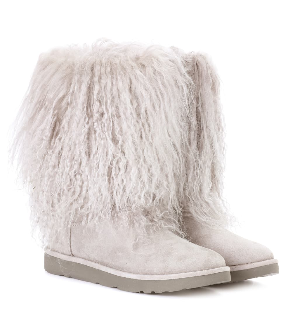 Lida Fur And Suede Ankle Boots Ugg Australia Mytheresacom - Free custom invoice template official ugg outlet online store