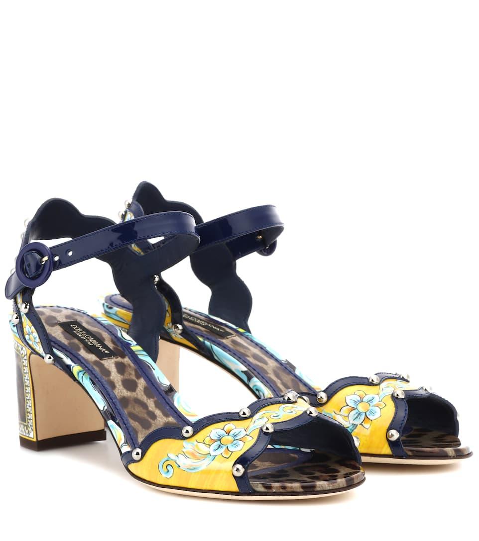 Réduction Authentique En Ligne Dolce & Gabbana - Sandales en cuir verni Jeu Prix Le Moins Cher RW5FzAn5E