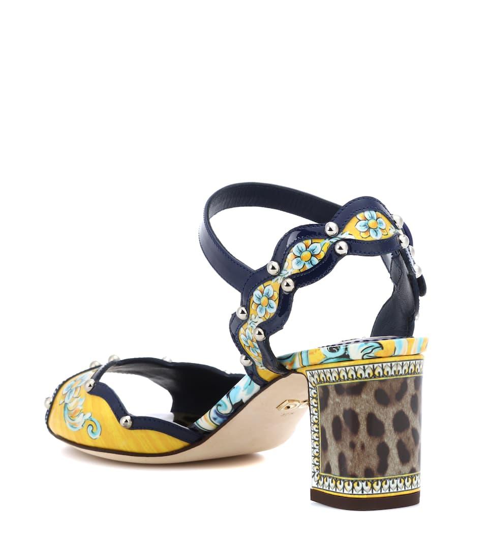 Dolce & Gabbana Sandalen aus Lackleder