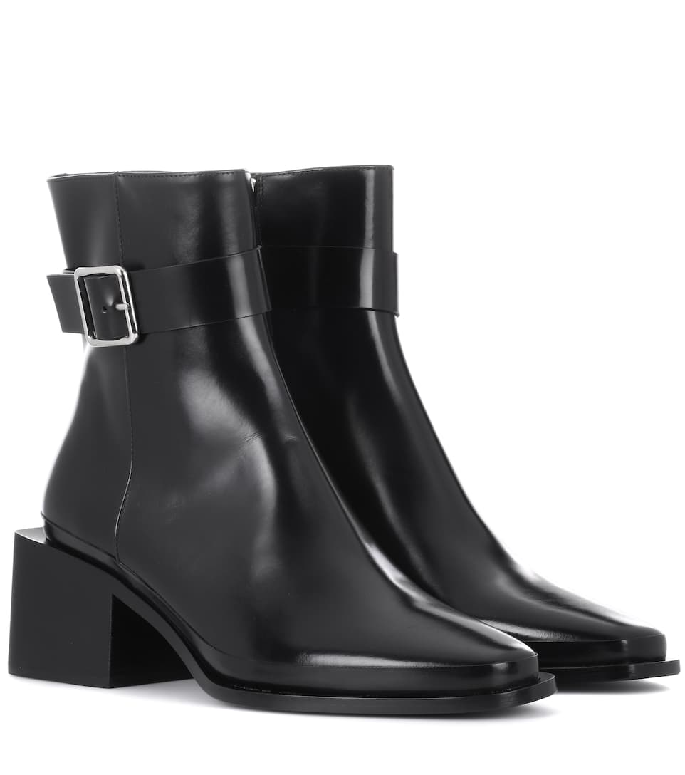 Jil Sander Leather Ankle Boots kpOtR6