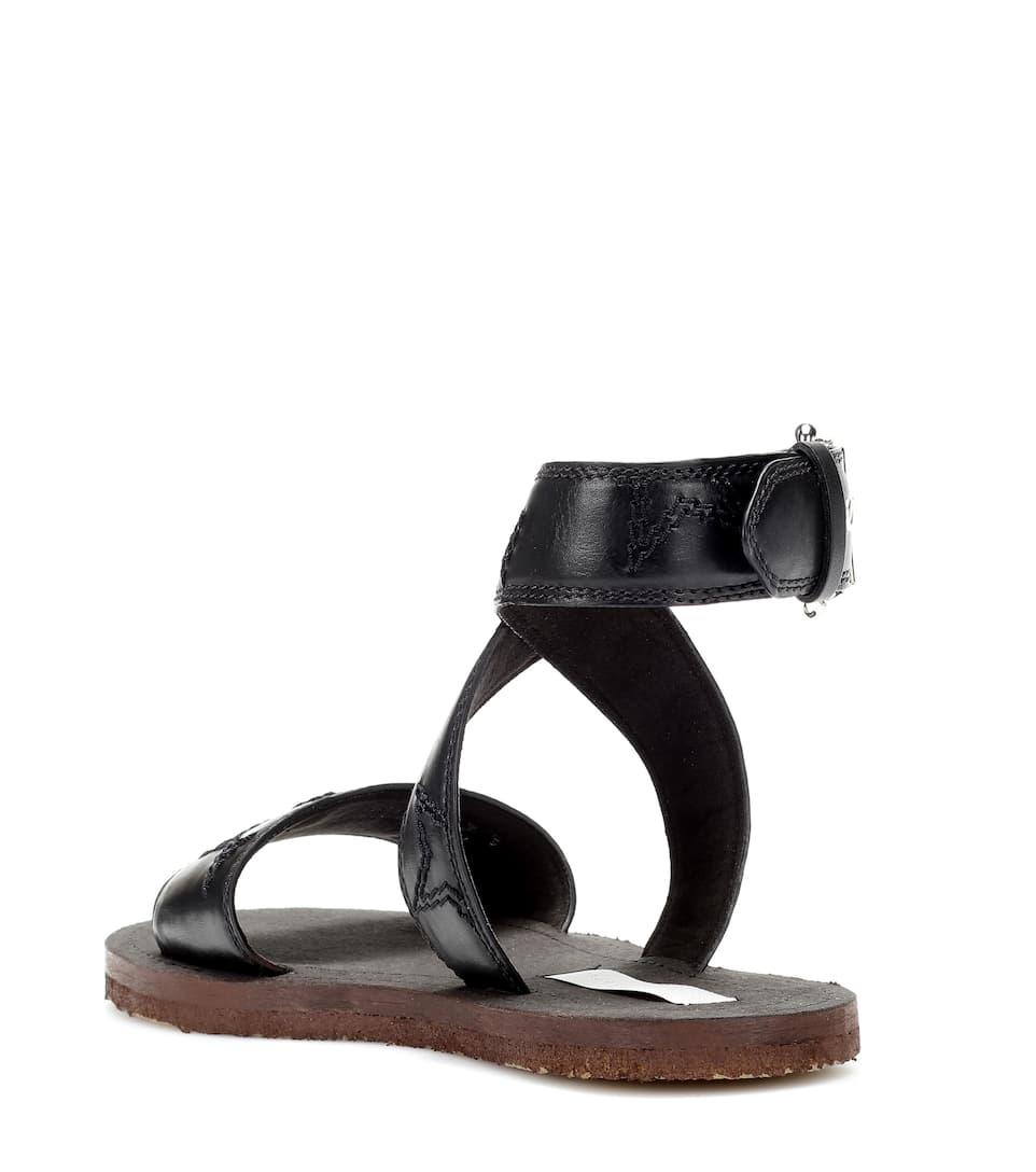 Piers faux-leather sandals Stella McCartney ink2vDcX