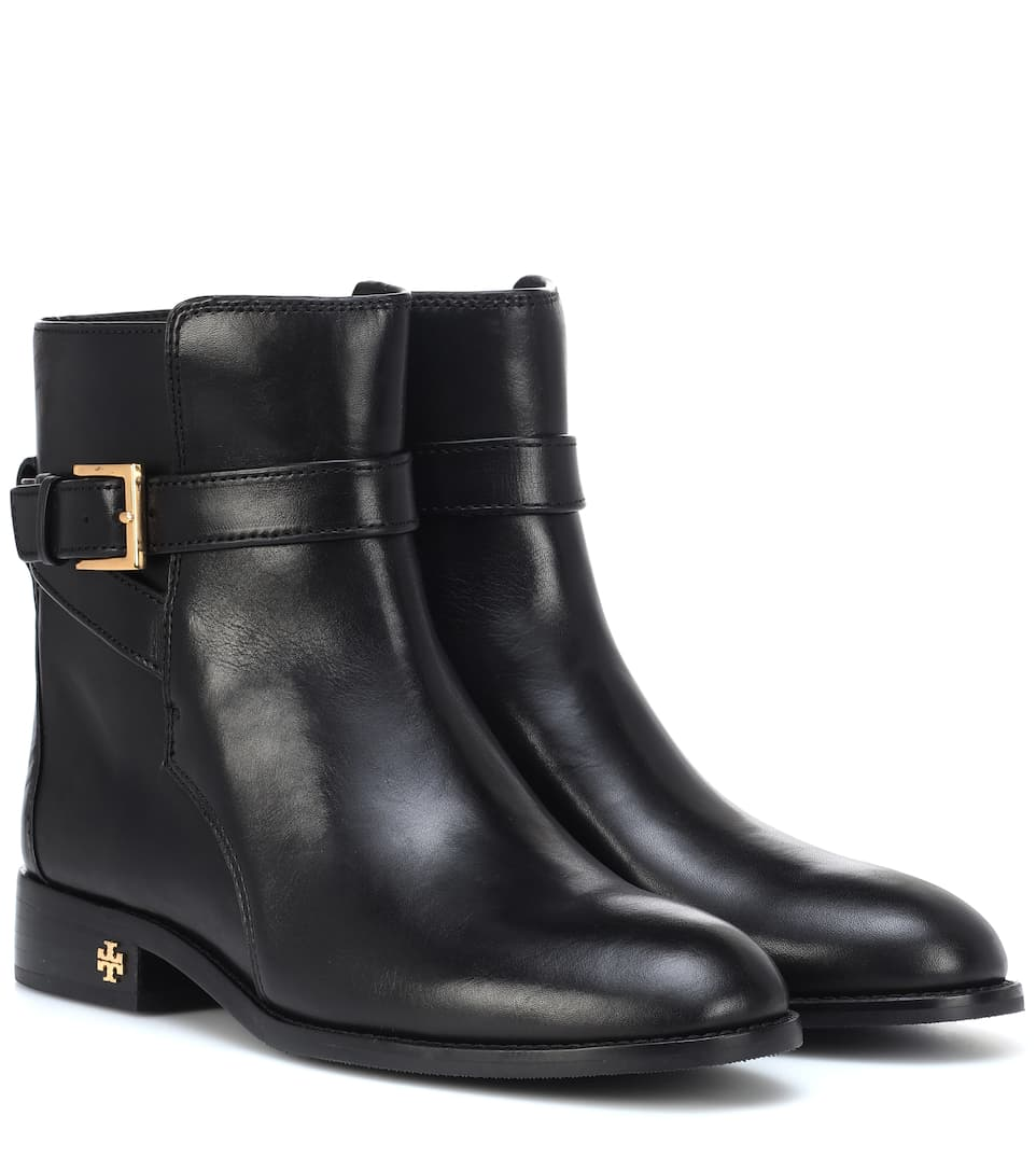 1e1bba982898 Brooke Leather Ankle Boots - Tory Burch