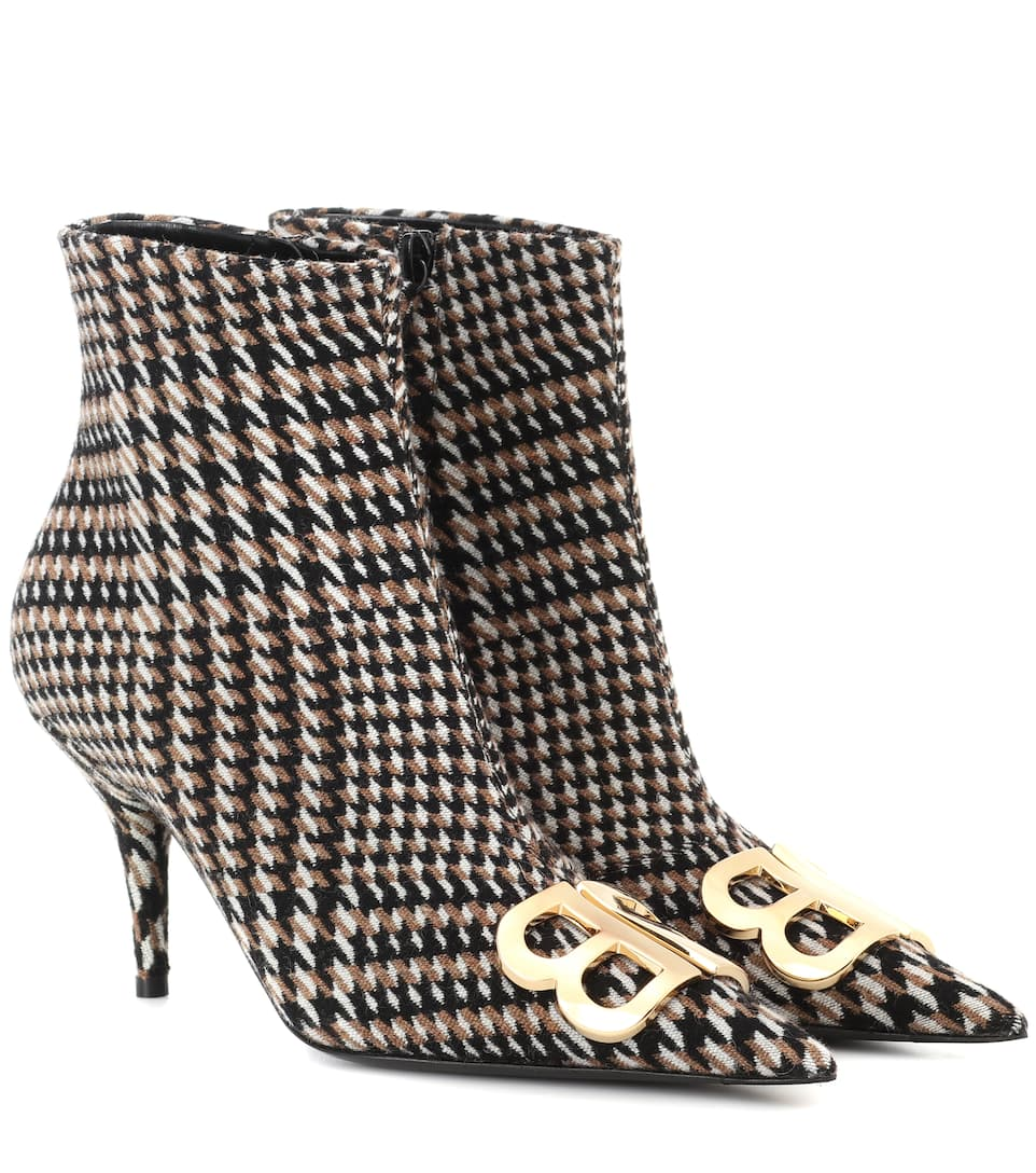 Balenciaga Camel & Black Houndstooth Ankle Boots clearance best seller outlet wide range of pQIP3D