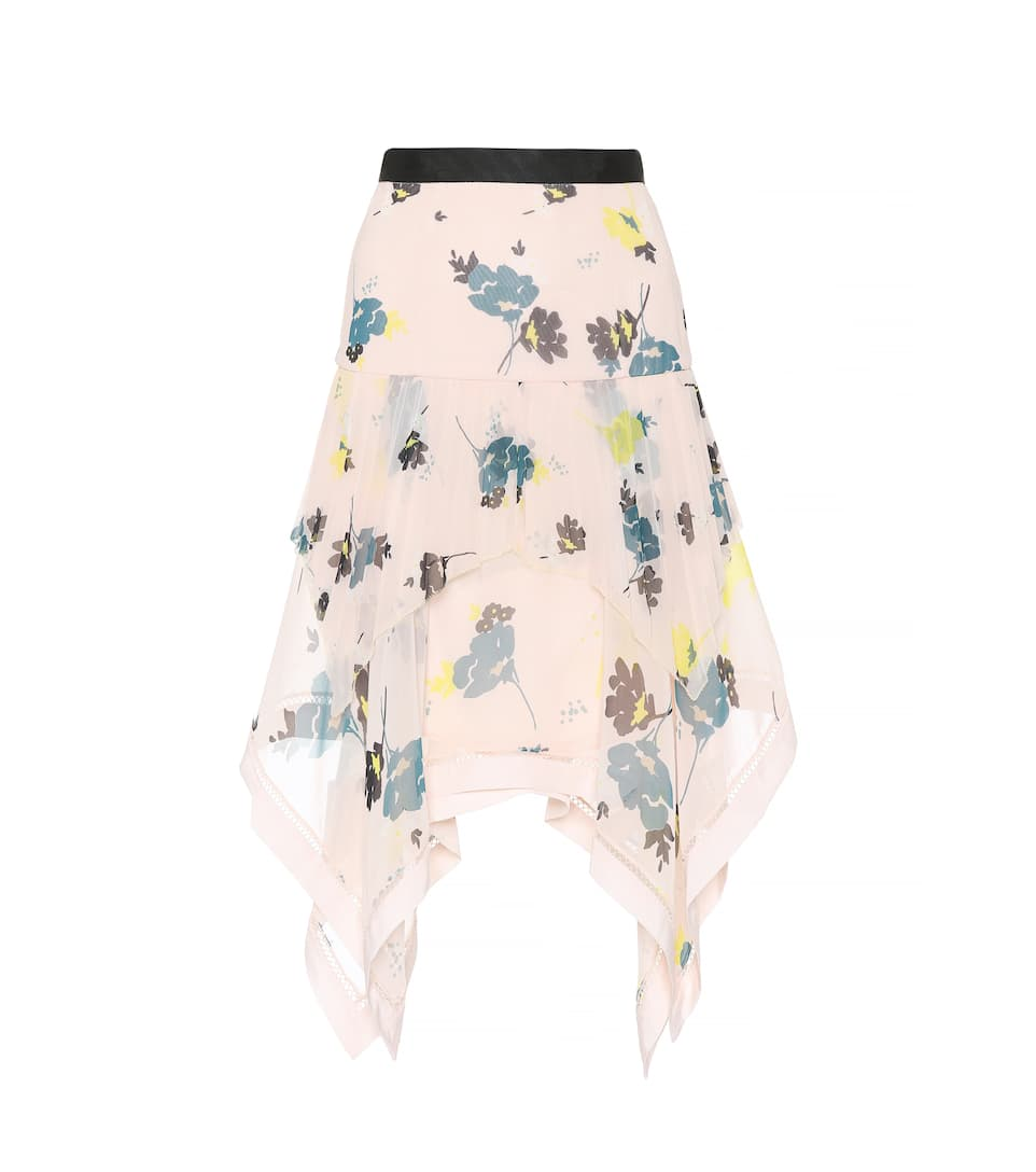 Floral Chiffon Skirt by Self Portrait